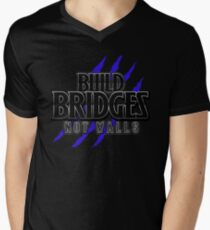 BUILD BRIDGES NOT WALLS 2.0 Men's V-Neck T-Shirt