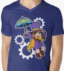 Hat Girl V-Neck T-Shirt