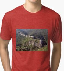 old ruined fortress mountain landscape Tri-blend T-Shirt