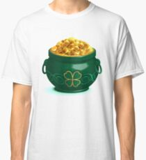 Green full pot with gold coins Classic T-Shirt