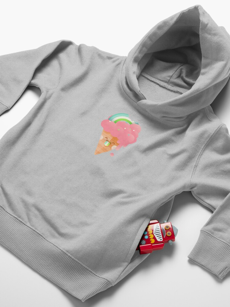 Alternate view of Strawberry Rainbow Toddler Pullover Hoodie