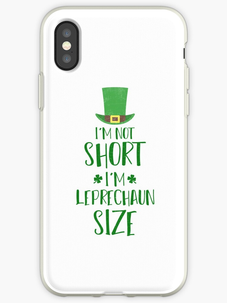Funny St. Patricks Day Shirt I'm Not Small Leprechaun Size by arnaldog