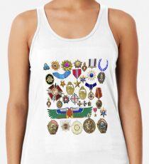 medals, orders, awards, carnival, orders bearer's costume, king, emperor, Caesar Racerback Tank Top