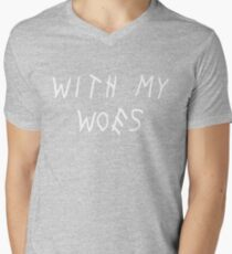 With My Woes Mens V-Neck T-Shirt
