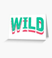 Born Wild Vintage Tattoo Design Greeting Card