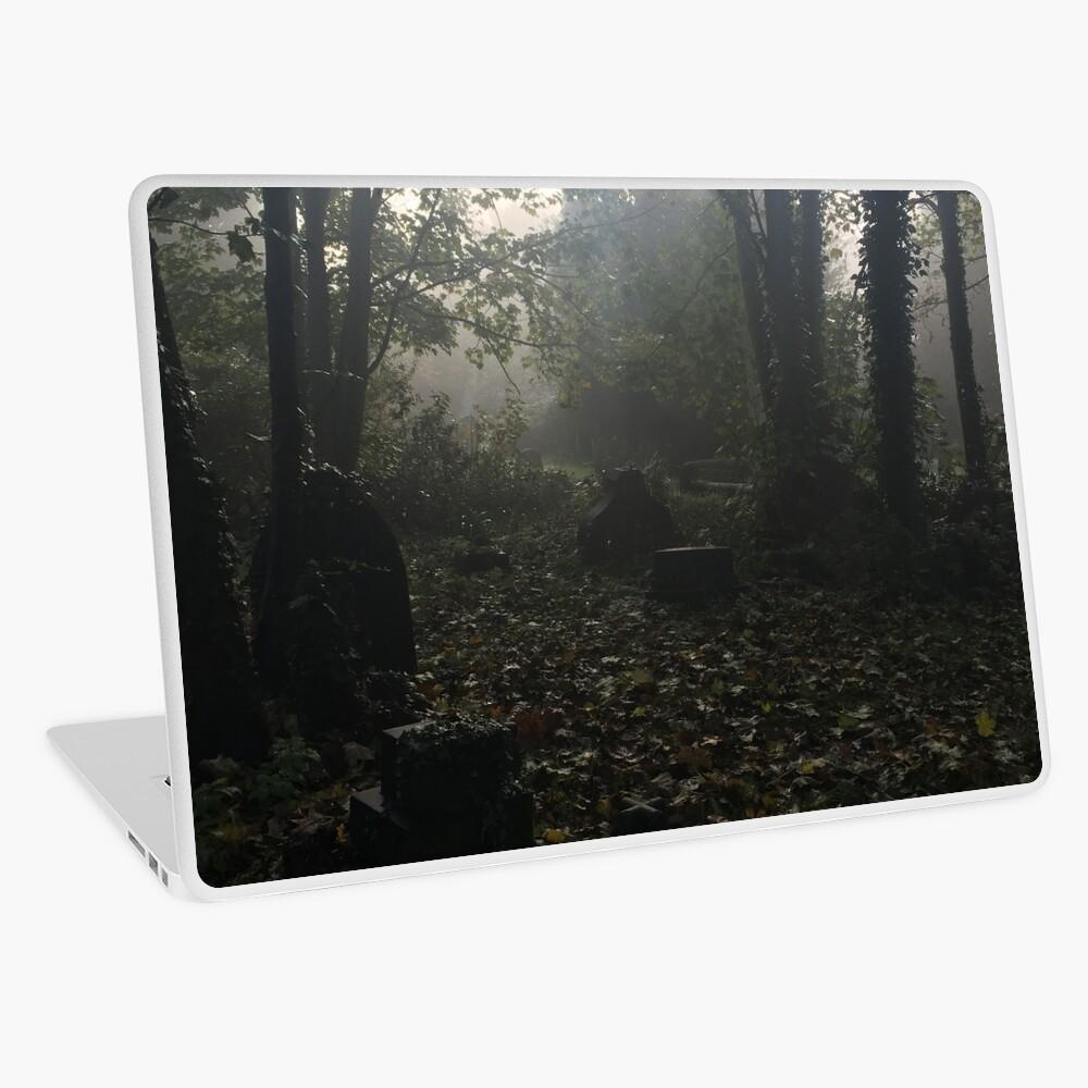 Misty graveyard Laptop Skin