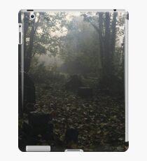 Misty graveyard iPad Case/Skin