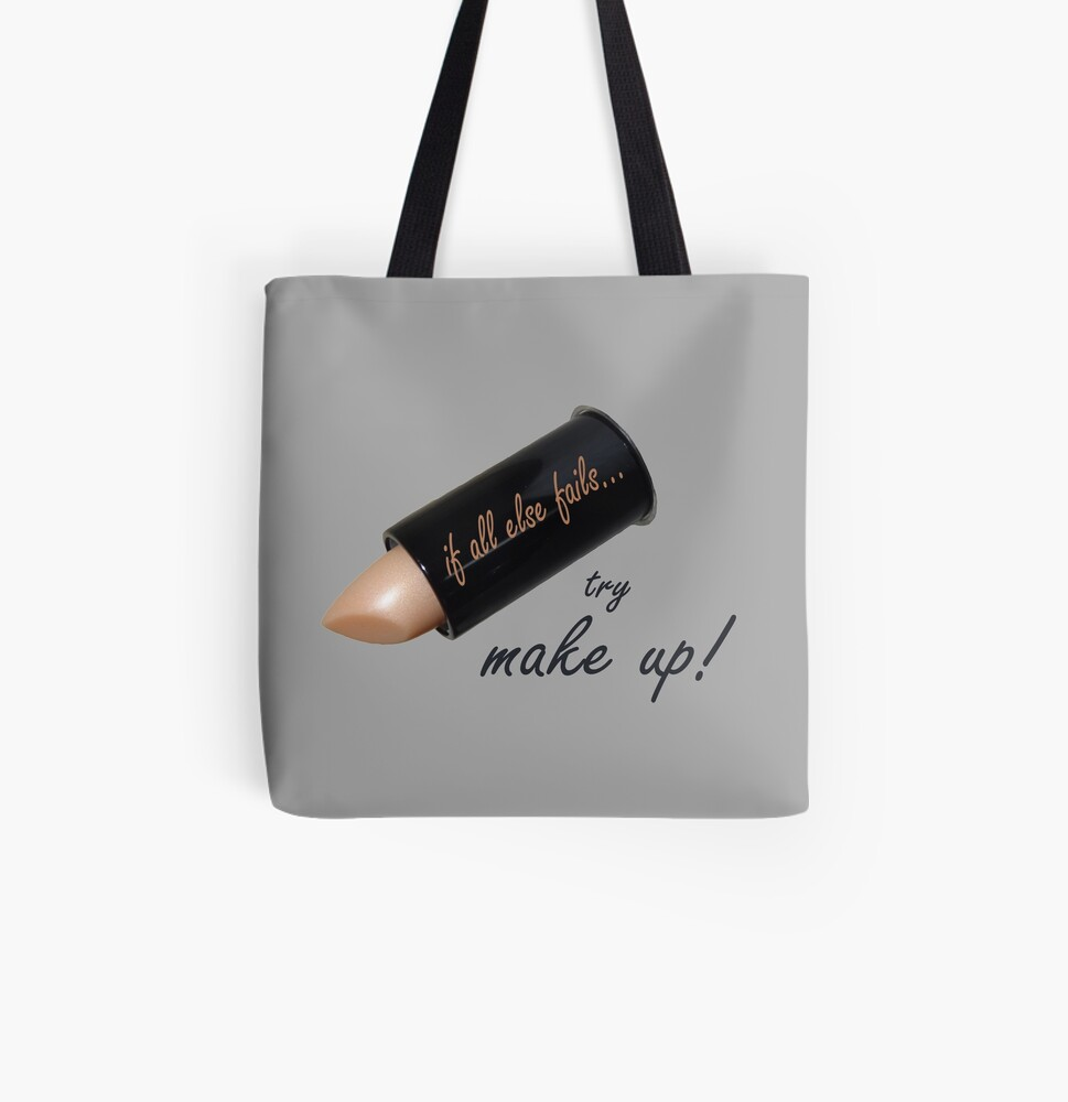 If all else fails, try make up All Over Print Tote Bag