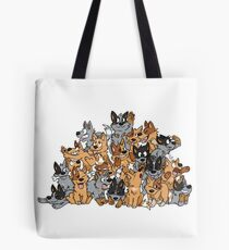 Cattle Dog Pile Tote Bag