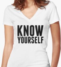 Know Yourself Women's Fitted V-Neck T-Shirt