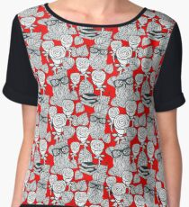 White roses and owls Chiffon Top