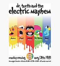Dr. Teeth and the Electric Mayhem Photographic Print