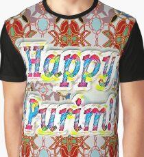 Happy Purim! pattern Graphic T-Shirt
