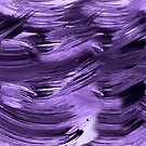 Ultra violet abstract hand painted seamless pattern by Lusy Rozumna