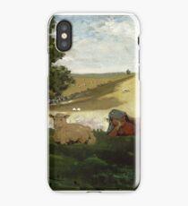 Warm Afternoon (Shepherdess) 1878 Winslow Homer iPhone Case/Skin