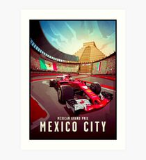MEXICAN : Grand Prix Auto Racing Advertising Print Art Print