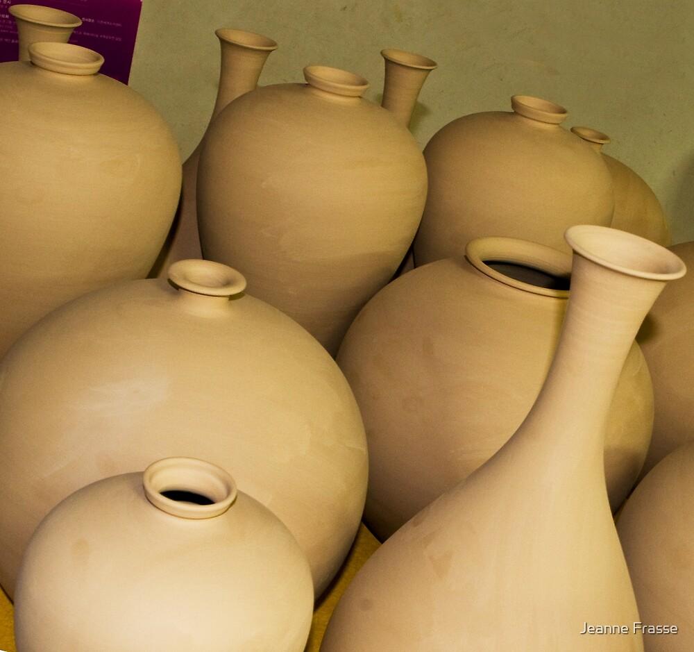 Raw Celadon Pottery by Jeanne Frasse