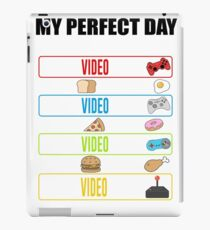 Funny Video Gamer My Perfect Day Eat Sleep Play Games iPad Case/Skin