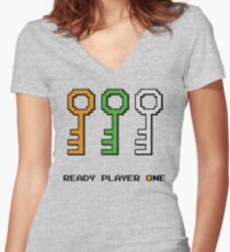 Ready to Play! Women's Fitted V-Neck T-Shirt
