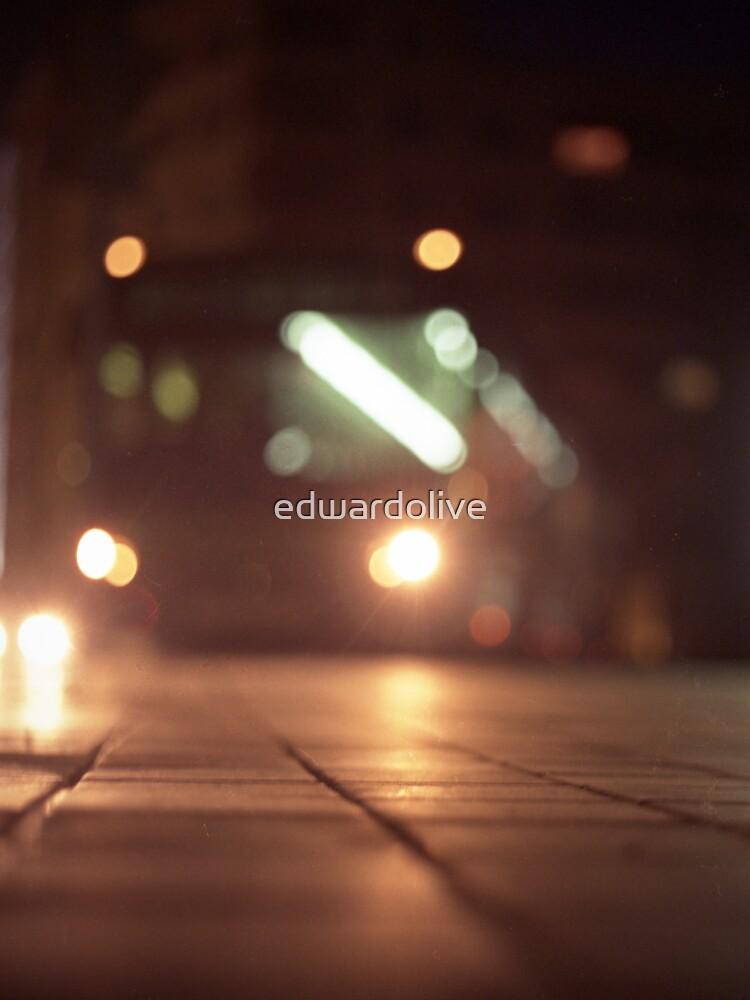 Urban landscape and bus at night Hasselblad analog medium format c41 film photo von edwardolive