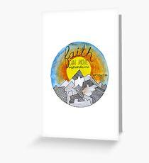 Faith Can Move Mountains Christian Matthew 17:20 Design Greeting Card