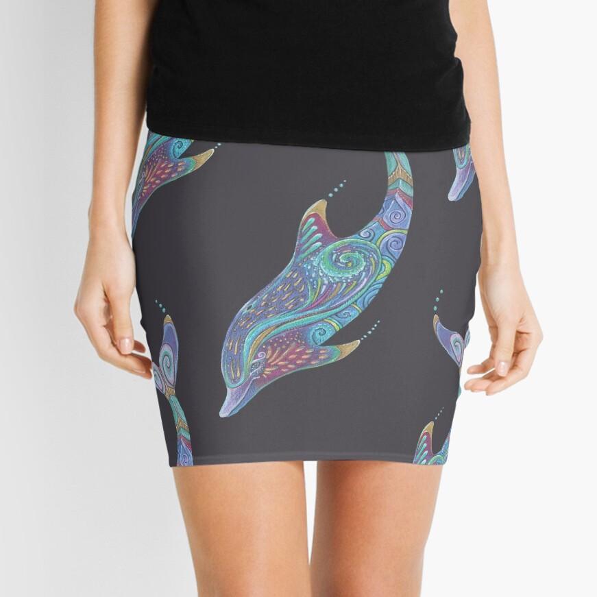 Dolphin Totem Mini Skirt