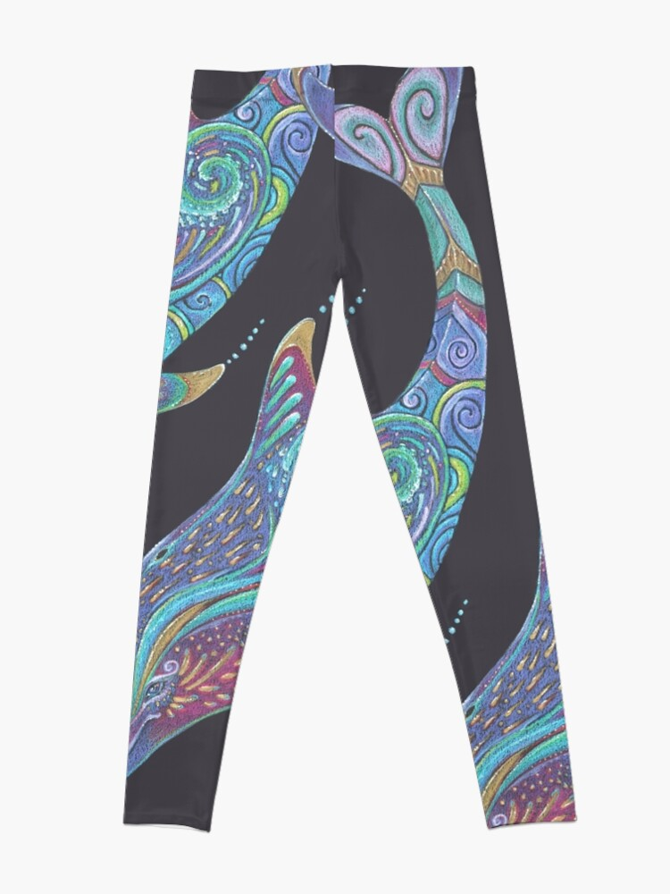 Alternate view of Dolphin Totem Leggings
