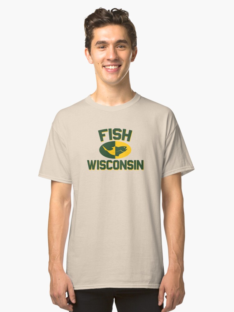 Fish Wisconsin Classic T-Shirt Front