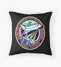 Space Mission Parody Patch No. 4 Throw Pillow