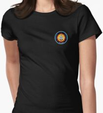 Space Mission Parody Patch No. 5 Women's Fitted T-Shirt