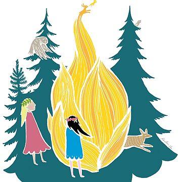 Midsummer bonfire by VeeraNoir