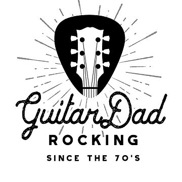 Rock And Roll Dad 70s Guitar Headstock Logo by SunnyStreet