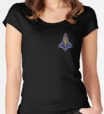 Space Mission Parody Patch No. 7 Women's Fitted Scoop T-Shirt
