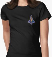 Space Mission Parody Patch No. 7 Women's Fitted T-Shirt