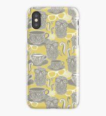 Tea owl yellow iPhone Case