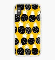 Black pineapple iPhone Case