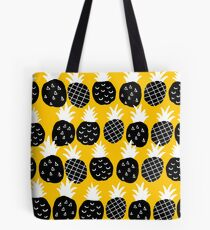 Black pineapple Tote Bag