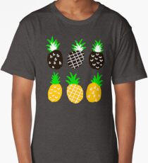 Black pineapple Long T-Shirt