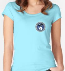 Space Mission Parody Patch No. 9 Women's Fitted Scoop T-Shirt
