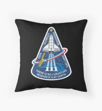 Space Mission Parody Patch No. 10 Throw Pillow