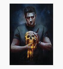 Golden Skull Photographic Print