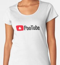 In Those Awkward Social Moments, Reach For PooTube - Reliable & Rewarding! Women's Premium T-Shirt