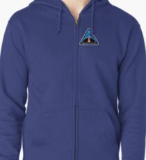 Space Mission Parody Patch No. 8 Zipped Hoodie