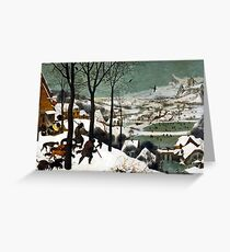 Pieter Bruegel the Elder Hunters in the Snow Greeting Card