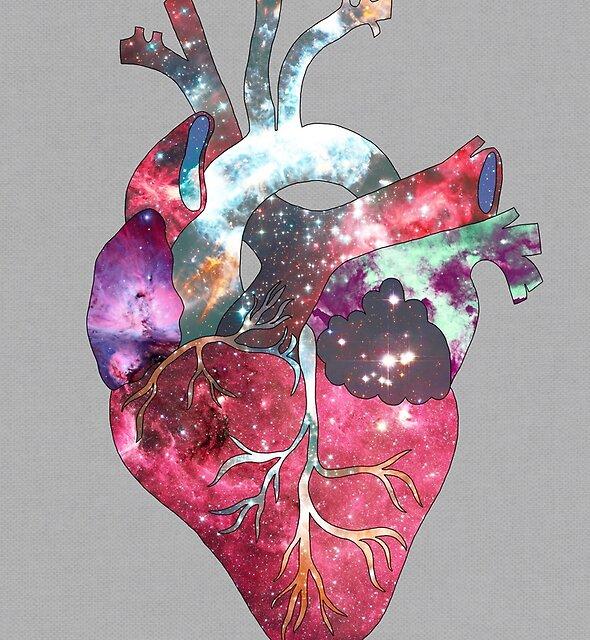 Superstar Herz (auf grau) von Bianca Green