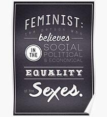 I AM A FEMINIST  Poster