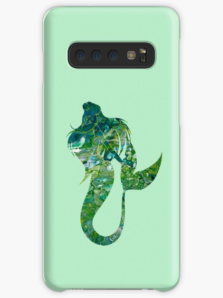 Green Marble Fluid Abstract Art Mermaid Image Design Fantasy Case Skin For Samsung Galaxy By Colorflowart