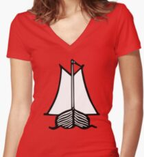 Historic sailing ship Women's Fitted V-Neck T-Shirt
