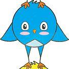 Cute Birdies Sticker by LindaTieuArt