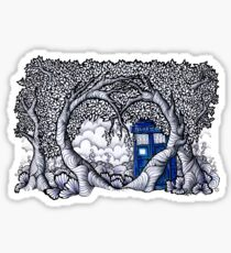 The heart of the Tardis Sticker